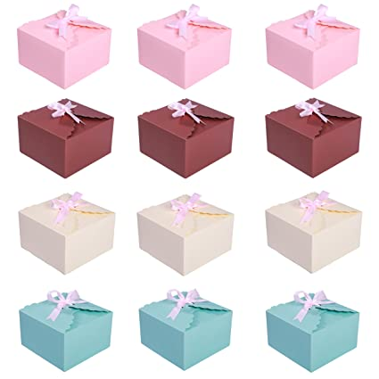 Diarylook Set Of 12 Gift Boxes Wedding Christmas Baby Shower Birthdays Favours Boxes For Homemade Cakes Cookies Chocolate Biscuits Sweets