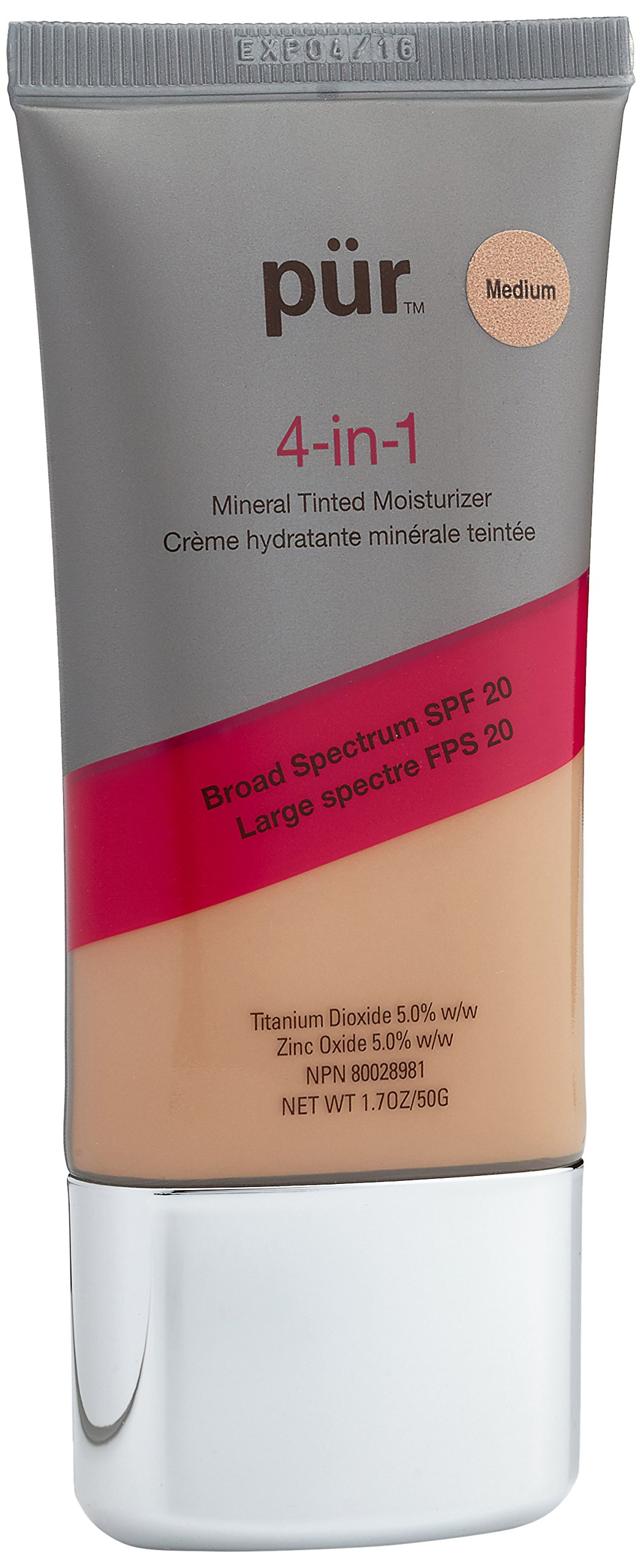 Pur Minerals 4-In-1 Tinted Moisturizer Med, 1 Ounce