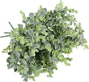 summer flower 5 Pack Faux Eucalyptus Stems,Artificial Eucalyptus Branches with Hoarfrost Effect Fake Plants Greenery for Vases, Farmhouse,Wreath DIY Home Indoor Wall and Holiday Party Decorations