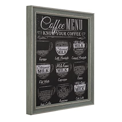 Habita Home Cuadro Decorativo Pizarra Menu 40x50x3.5 Color ...