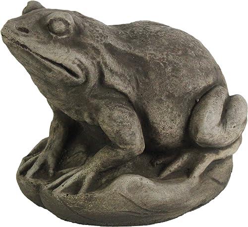Garden Frog Concrete Garden Statue Toad Figure Cement Outdoor Frog Figurine