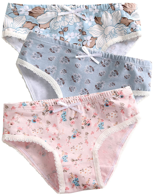 23e9c1bd04 Amazon.com  Vaenait baby 2T-7T Kids Girls 100% Cotton Undershirts Tank Tops  Cami   Assorted Panties Underwear Set (Pack of 3)  Clothing