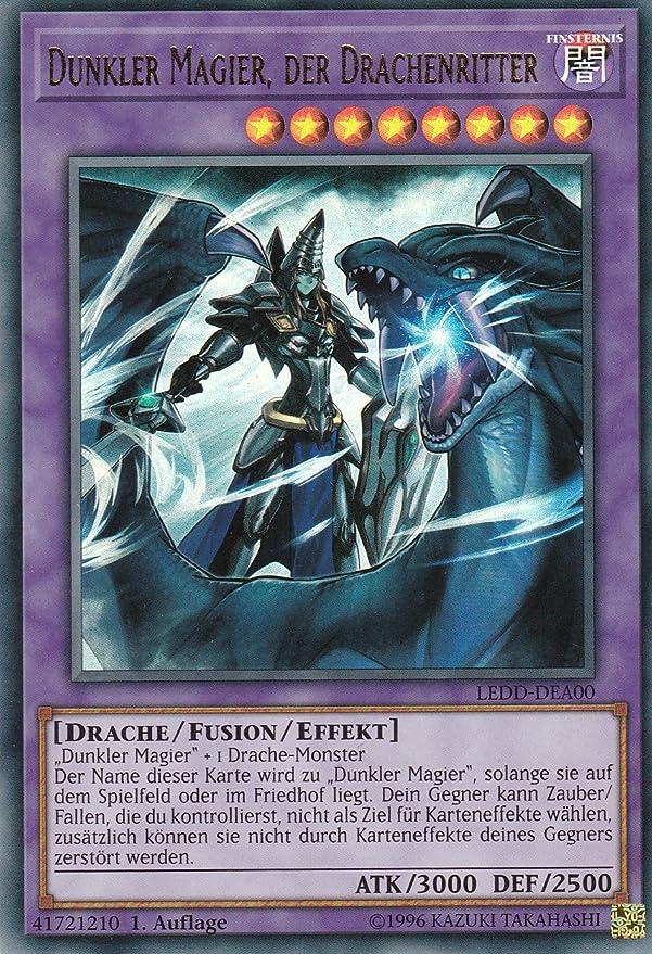 der Drachenritter /< LEDD-DEA00 deutsch ULTRA RARE! /> Dunkler Magier Yu-Gi-Oh