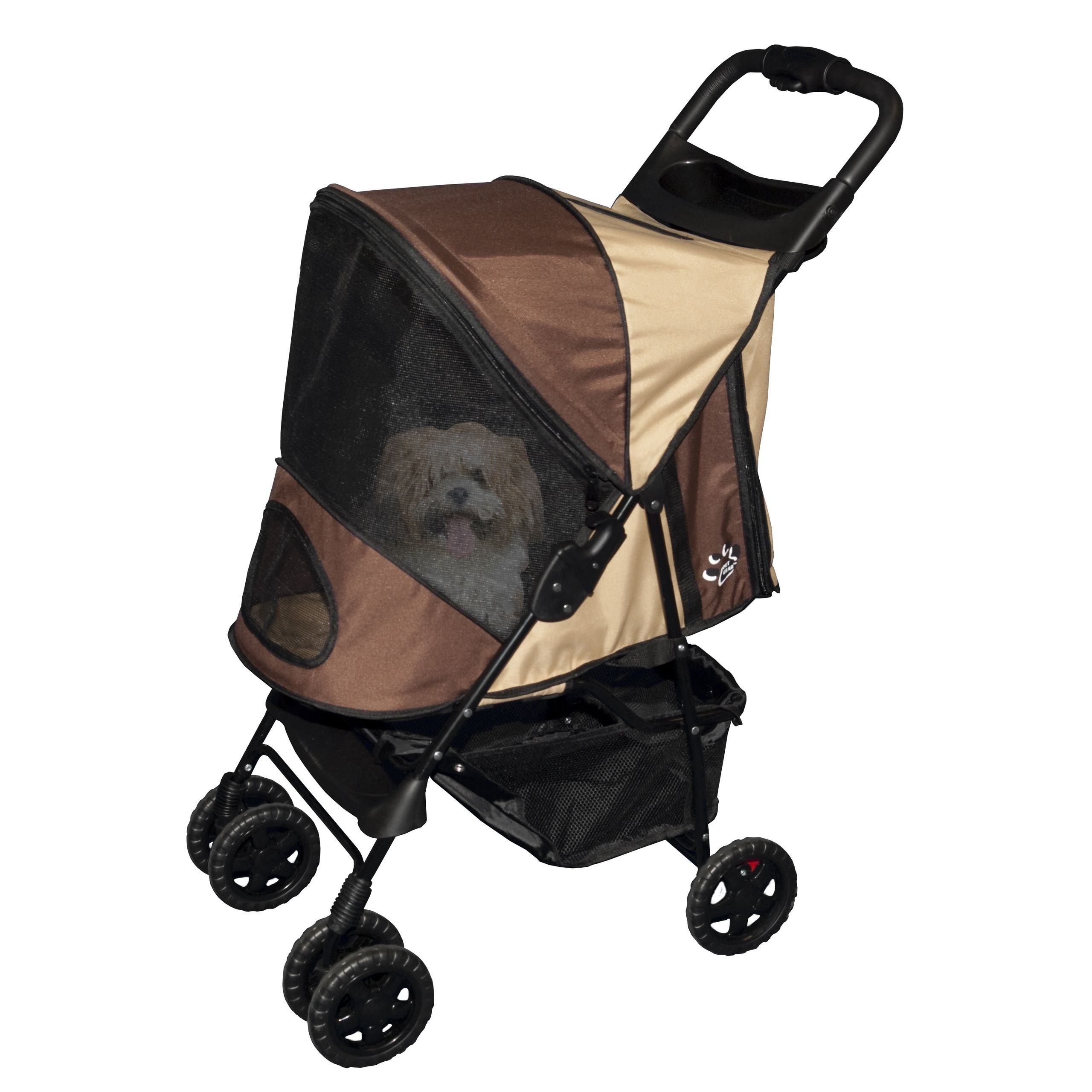 Pet Gear Happy Trails Stroller for Cats and Dogs up to 30-pounds, Sahara