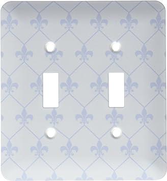 3drose Lsp 171852 2 Vintage Blue Fleur De Lis Wallpaper Connected In Diamond Shape Pattern Double Toggle Switch