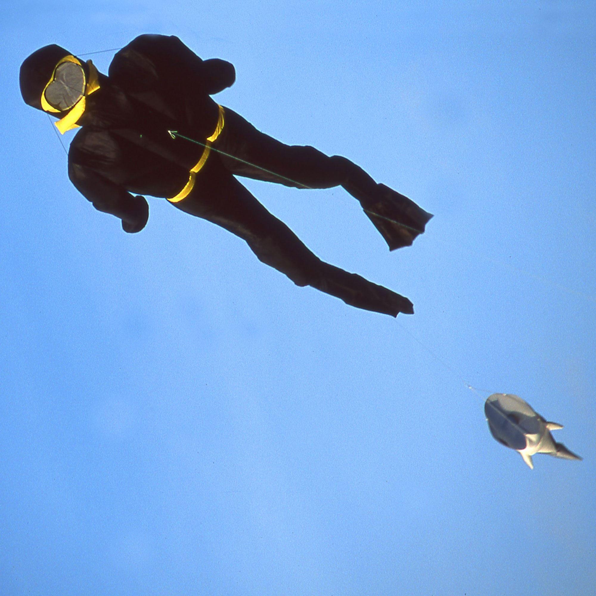 Martin Lester's Albert Ross: Scuba Diver Parafoil Kite by Martin Lester