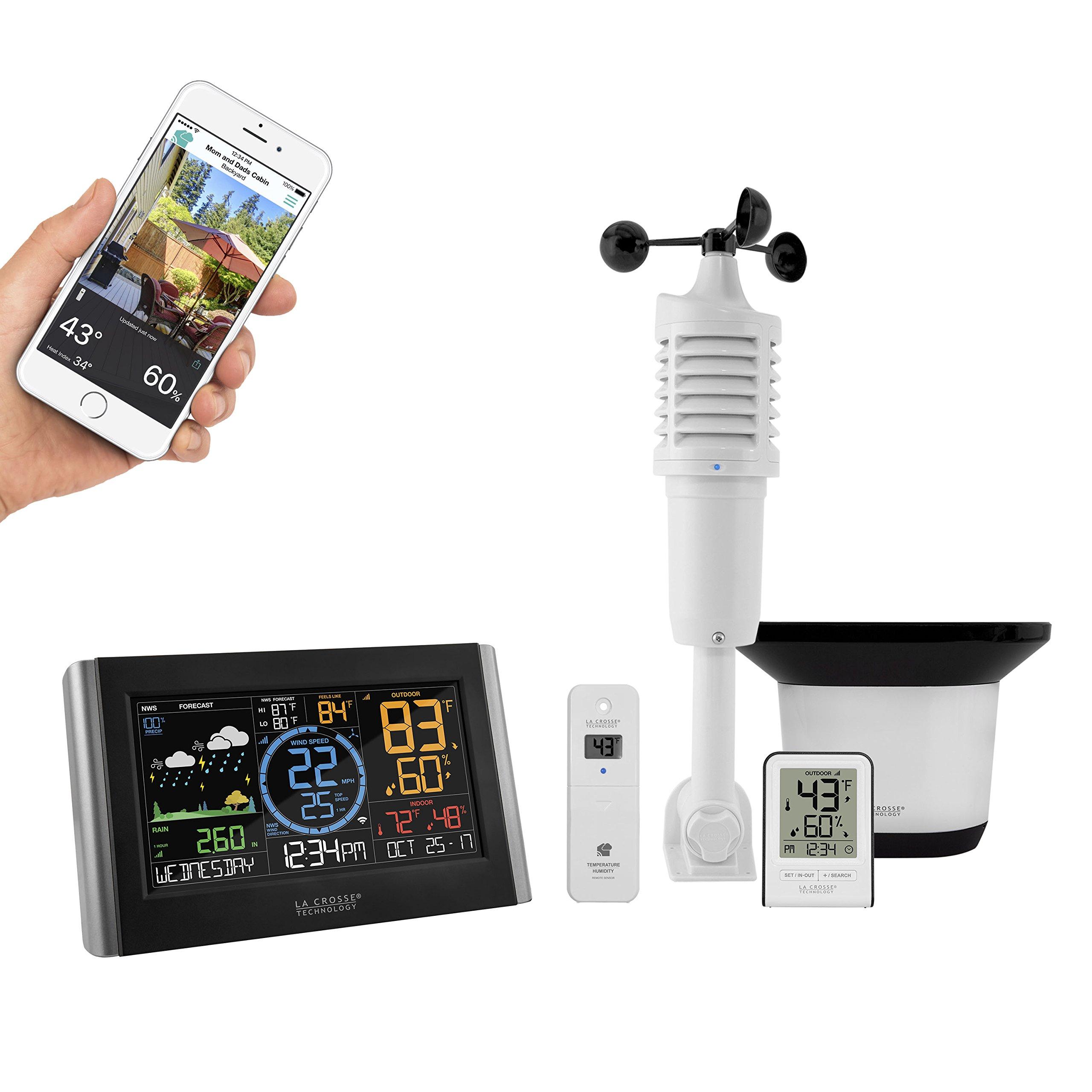 La Crosse Technology V22-WRTH-INT Professional Weather Station, Black/Silver