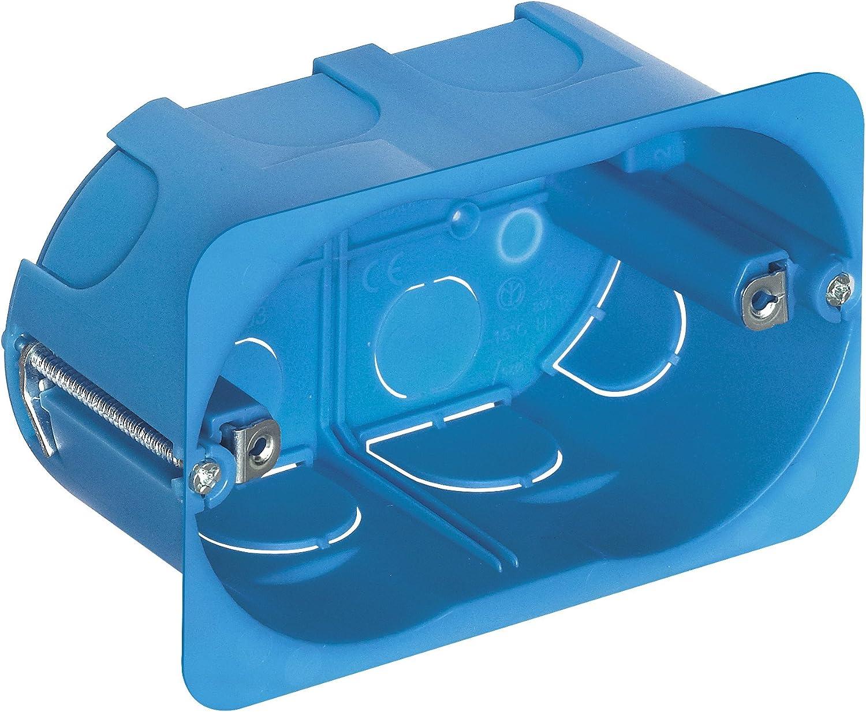 Vimar - Caja empotrar 3 módulos para pared hueca azul: Amazon.es: Bricolaje y herramientas