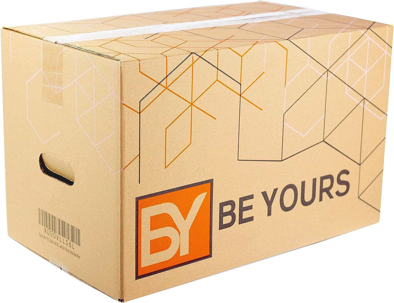 BEYOURS Packs de 20 y 10 Cajas Carton Mudanza con asas - 430x300x250 mm - Cajas Mudanza Ultraresistentes - Cajas Almacenaje ECO-FRIENDLY - Fabricadas en España