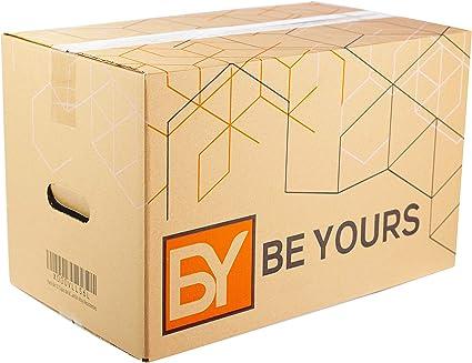 BEYOURS Packs de 20 y 10 Cajas Carton Mudanza con asas ...