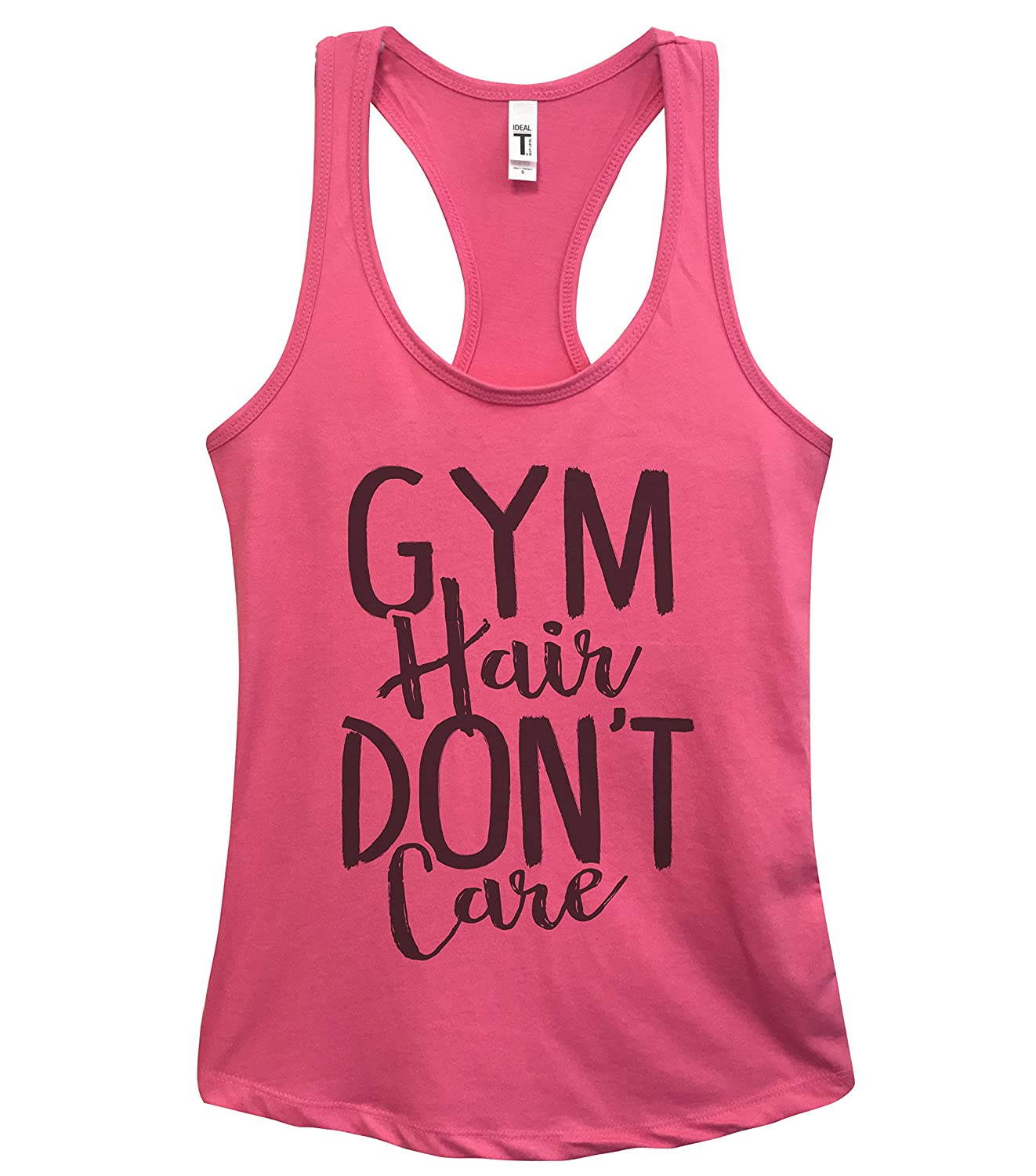 Funny Women's Work Out Tanks Gym Hair Dont Care - Yoga Royaltee Tank Tops