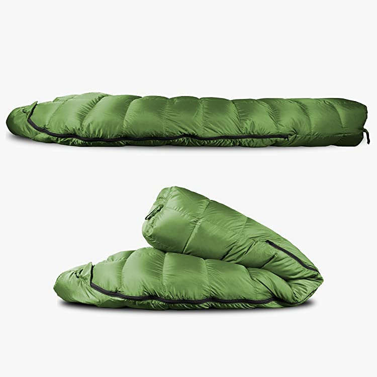 Outdoor Vitals Summit 0°F Premium Down Sleeping Bag-800+ fill power down compresses smaller
