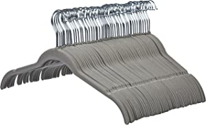 AmazonBasics Velvet Shirt Dress Clothes Hangers, 50-Pack, Gray - AQ-W0010