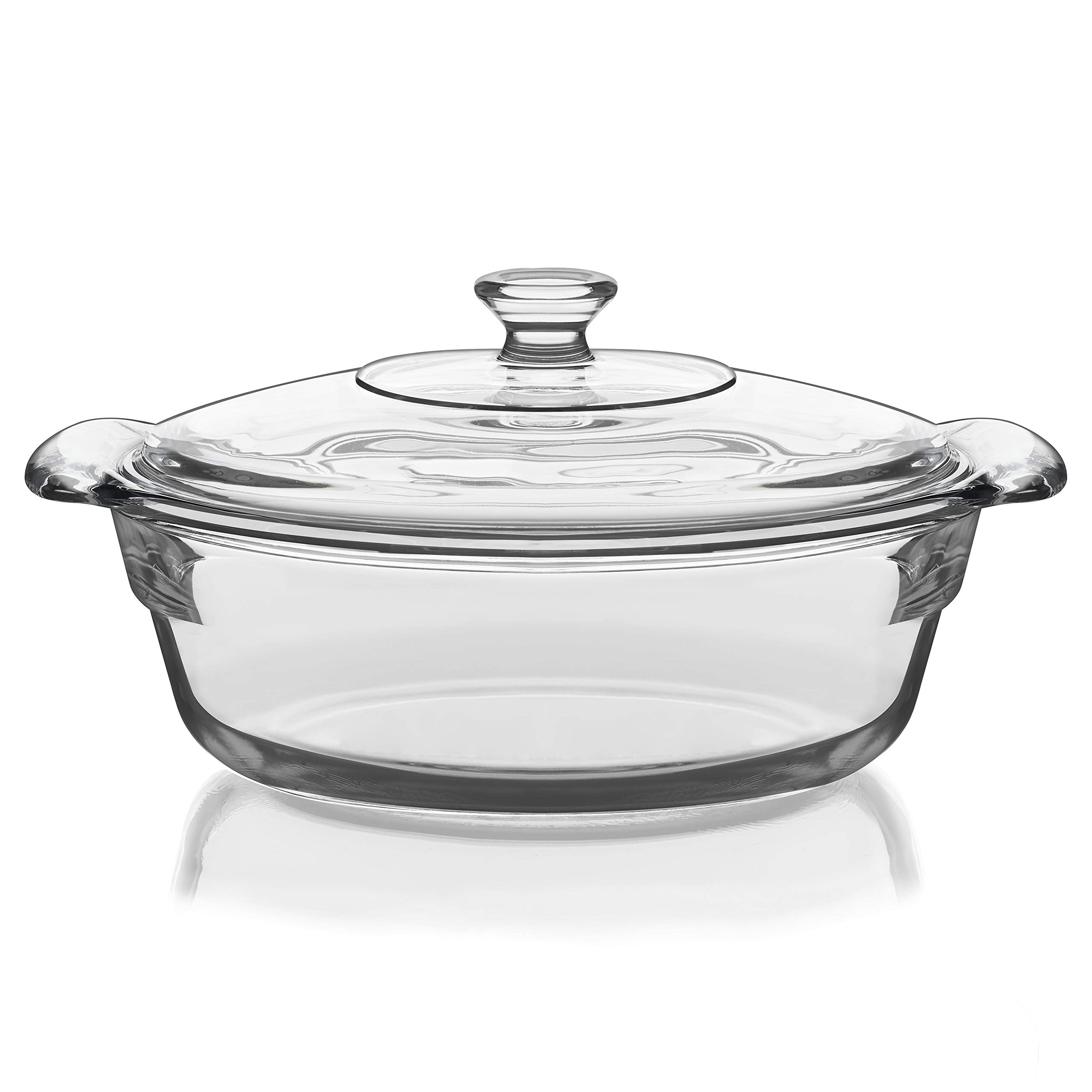 Libbey Baker's Premium 6-Piece Glass Casserole Baking Dish Set with 2 Covers by Libbey (Image #4)
