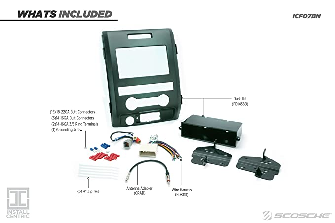 Amazon.com: SCOSCHE FD1438B 2009-12 Ford F-150 XL Double DIN or DIN on ford truck wiring diagrams, 1986 ford f-150 wiring diagram, 1995 ford f-150 wiring diagram, ford f-150 alternator diagram, ford f 150 trailer wiring, 2004 ford f-150 wiring diagram, 1991 ford f-150 wiring diagram, ford f-150 vacuum hose diagram, 1998 ford f-150 wiring diagram, 84 ford f 150 wiring diagram, ford electrical wiring diagrams, ford f-150 electrical schematic, f150 wiring diagram, 1988 ford f-150 wiring diagram, 2005 ford f-150 wiring diagram, ford factory radio wire colors, ford f-150 5.4 engine diagram, 1998 ford f-150 engine diagram, ford ignition system wiring diagram, 1985 ford f-150 wiring diagram,