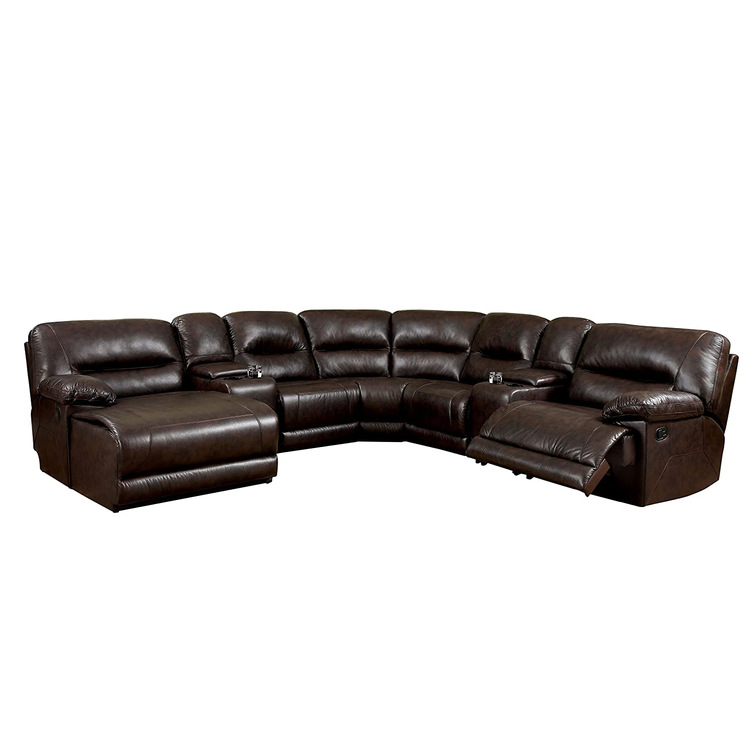 Furniture of America Griffith Corner Sectional Sofa