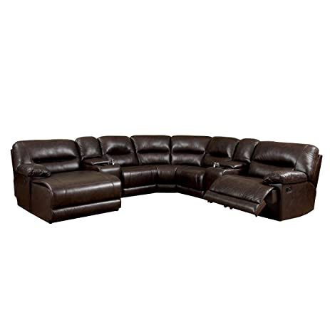 Furniture of America Griffith Corner Sectional Sofa Brown  sc 1 st  Amazon.com : corner sectional sofa - Sectionals, Sofas & Couches