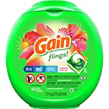 Gain flings! Laundry Detergent Liquid Pacs, Tropical Sunrise, 81 Count - Packaging May Vary