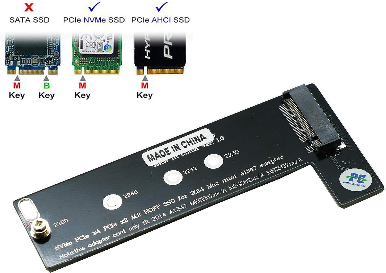 Sintech M.2 NGFF NVMe - Tarjeta SSD para Mac Mini Late 2014 Year ...