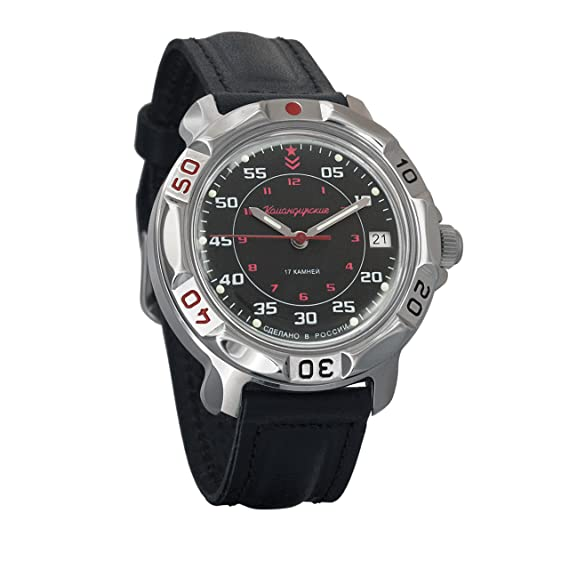 Vostok Komandirskie Russian Mens Mechanical Militarty Wrist Watch #811172: Amazon.es: Relojes