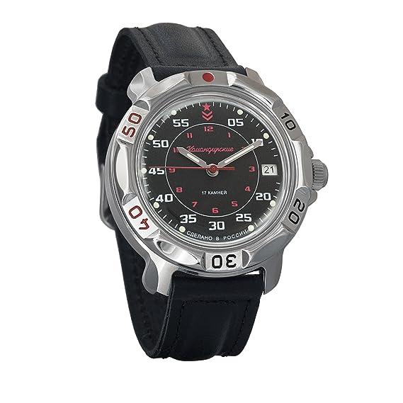 Vostok Komandirskie Russian Mens Mechanical Militarty Wrist Watch #811172: Amazon.es: Relojes