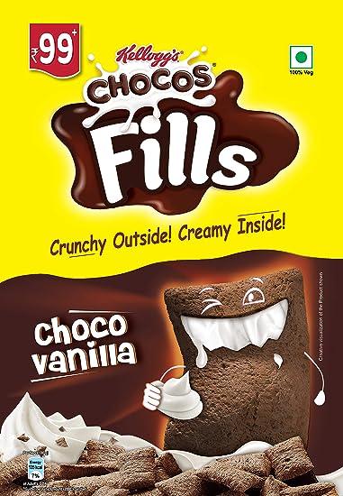 Kellogg's Chocos Fills, Choco Vanilla, 180g