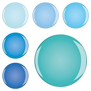 Lot de 6 aimants 6ermb66649 Classic Bleu Turquoise Uni ...