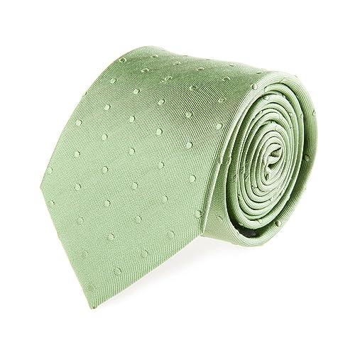 Bugatti Seidenkrawatte Krawatte Seide Schlips Klassisch Gepunktet Grün