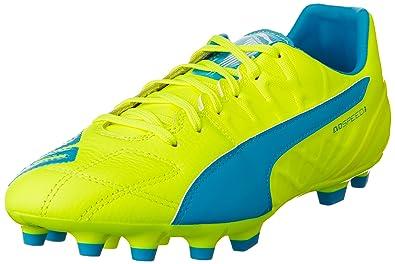 Puma Chaussures de football Football evoSPEED 3.4 Lth FG 2016 safety yellow-atomic blue-white 9 (UK) 5Txp7x65f9