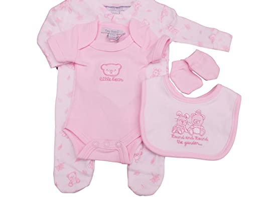 3727a9fa4d5d Tiny Baby with Tags Premature Teddy Bear 4 Piece Layette Set (3-5lbs ...
