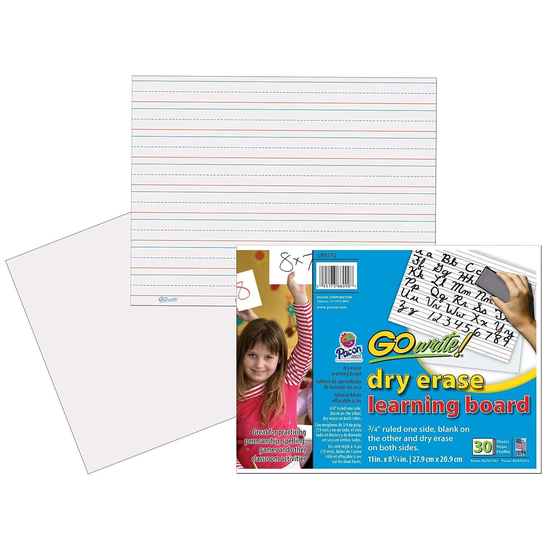 GoWrite GoWrite GoWrite . Dry Erase Handschrift liniert Blatt mit Kleber, weiß, 8.25 x11  B00BN9OQIE | Gewinnen Sie hoch geschätzt  | Zart  | Zarte  a2cfff