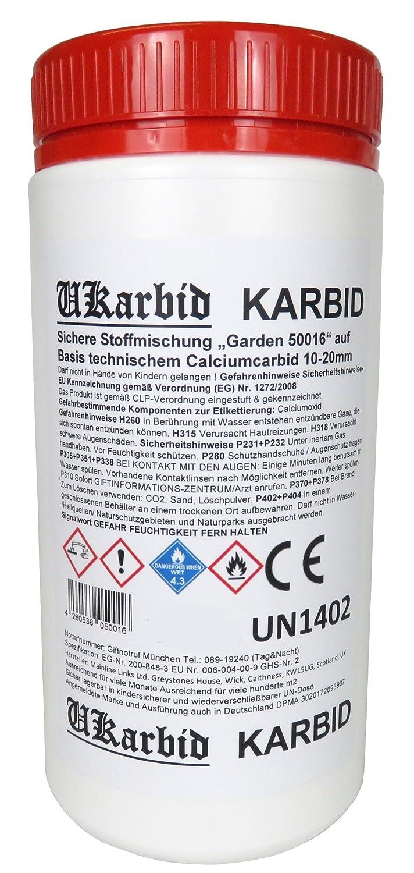 Ukarbid 5,0 Kg Karbid als Granulat mit 90% Feste Steine, auf Basis europäischen technischem Calciumcabid mit 10-20 mm