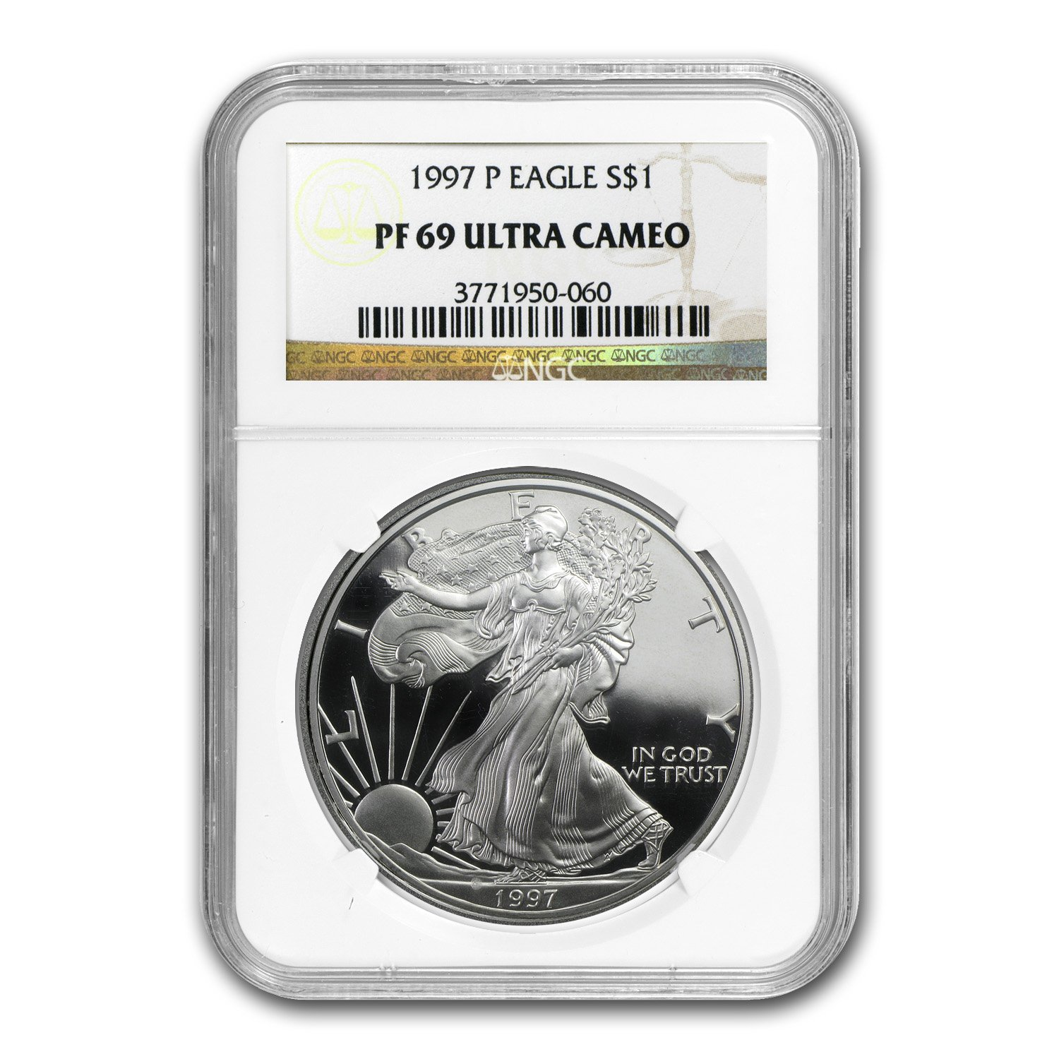1 oz 1997-P U.S NGC PF 69 ULTRA CAMEO Silver Eagle Proof Ultra Cameo Coin
