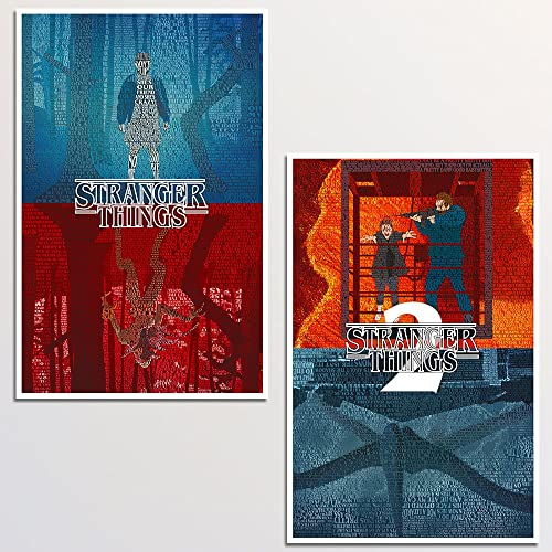 Amazoncom Stranger Things Art Print Two Set 11x17 Unframd