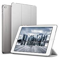 Esr®, custodia per iPad Air 2, lato superiore pieghevole in pelle sintetica e lato posteriore traslucido e smerigliato, con chiusura magnetica Auto Wake & Sleep, [sottile], [leggero], per Apple iPad Air 2/iPad 6(grigio argento)
