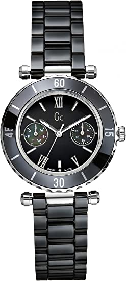 Gc Guess Collection Diver Chic Reloj para mujeres Con elementos de cerámica: Amazon.es: Relojes