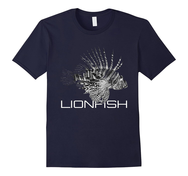 Black and White Lionfish Sea Life Shirt-T-Shirt