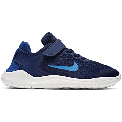 1435754c2ae0a Nike Boy s Free RN 2018 Running Shoe Blue Void Photo Blue Indigo Force Size