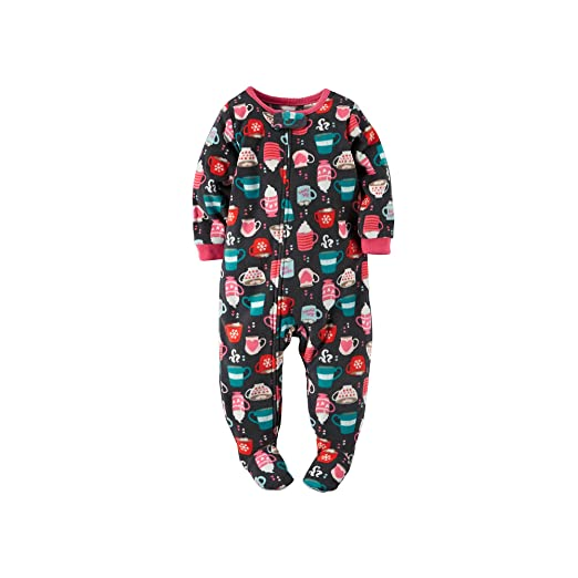 Carter s Little Girls  Toddler Footed Fleece Blanket Sleeper Pajamas Hot  Cocoa Print ... 41a1dc322