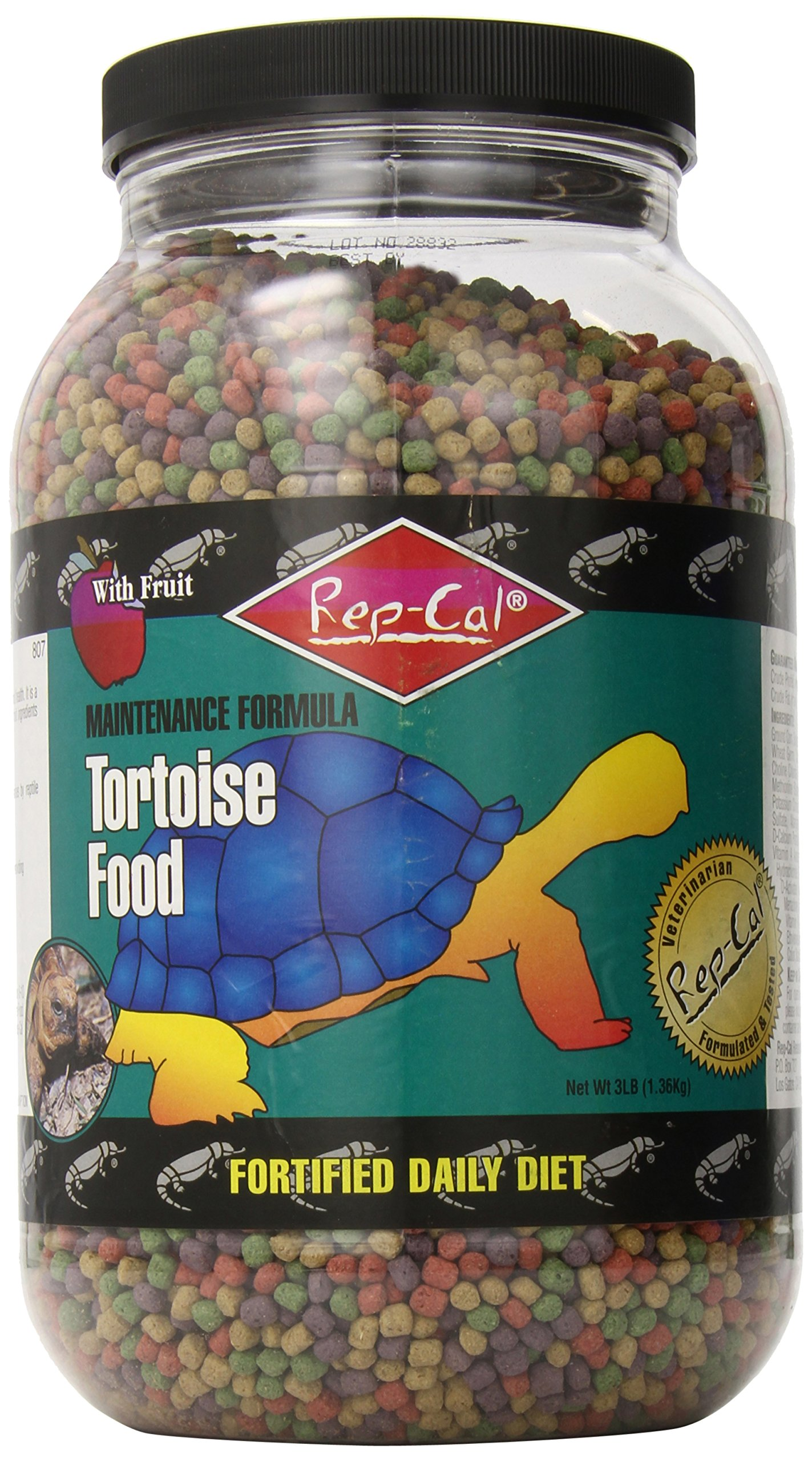 Rep-Cal SRP00807 Tortoise Food, 3-Pound