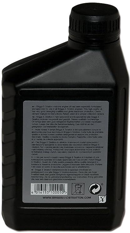 Briggs & Stratton 100005E Aceite de motor de 4 tiempos, 0.6 L ...