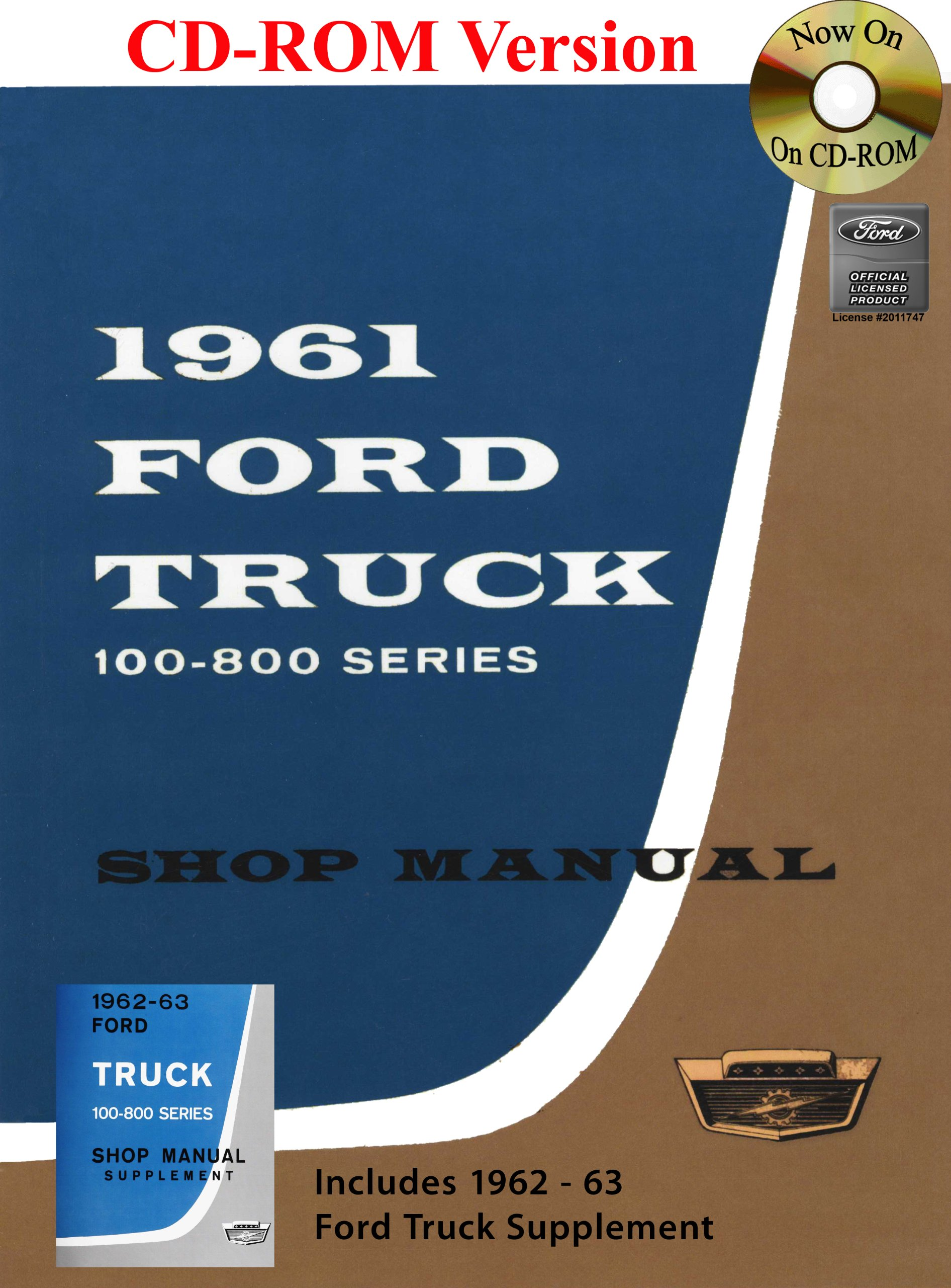 1961-63 Ford Truck Shop Manual: Ford Motor Company, David E. LeBlanc:  9781603710701: Amazon.com: Books