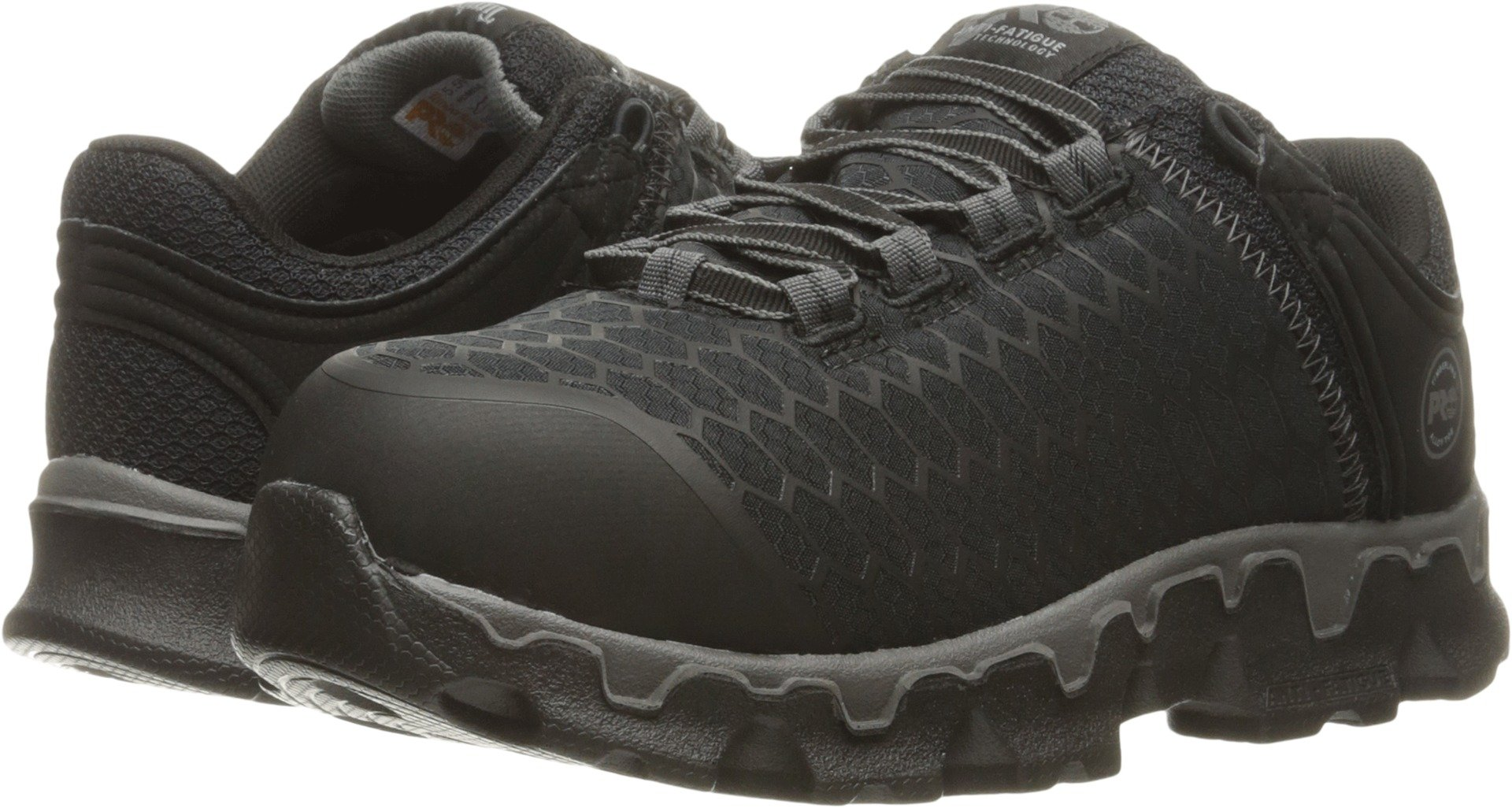 Timberland PRO Women's Powertrain Sport Alloy Toe SD+ Industrial and Construction Shoe, Black Synthetic, 8 W US