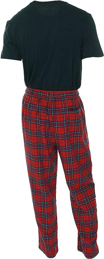 $95 Nautica Men/'s Red Plaid Cotton Pajama PJ Flannel Pants Lounge Sleepwear XL