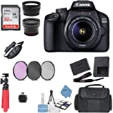 Canon EOS 3000D/Rebel T100/ EOS 4000D Kit with EF-S 18-55mm f/3.5-5.6 III Lens + Accessory Bundle + Model Electronics…