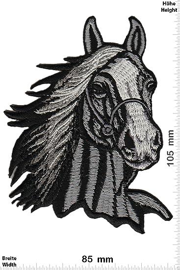 Patch-Iron-Pferdekopf - Pferde - grau - BIG - - Tiere - - Iron On ...