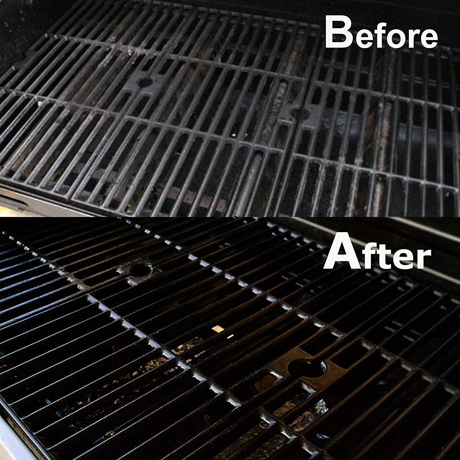 Grill Brush Bristle Free - Grill Brush - 18'' Rust Proof Triple Stainless Steel BBQ Grill Cleaner for Steel, Porcelain, Iron,Ceramic Grates by Alago (Image #6)