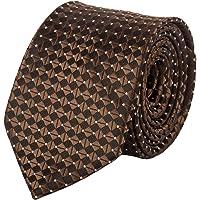 Jane Ashe Unisex Micro Fiber Brown Paisley Necktie