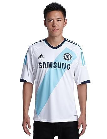 Adidas - Camiseta de fútbol sala para hombre, tamaño M, color blanco/turquesa