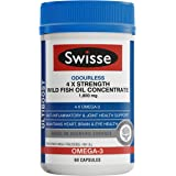 Swisse Ultiboost 4 X Strength Wild Fish Oil Concentrate - 60 Capsules